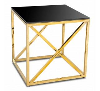 Stolik kawowy Nelja Gold Black 55 cm
