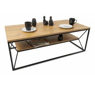 Stolik kawowy z półką 120x60cm BasicLoft