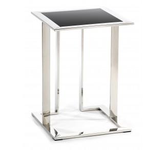 Stolik pomocnik Sawa Silver Black 40 cm