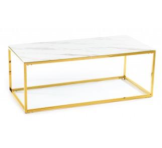 Ława Rekta Gold White 120 cm