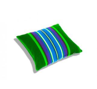 Poduszka zielona folk pasiak łowicki, dwustronny 35x35cm