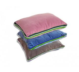 Zestaw pastelowy aksamitnych poduszek folk glamour 55x45x3,5cm
