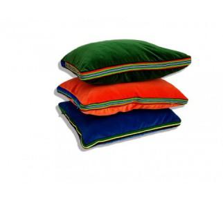 Zestaw energetyczny aksamitnych poduszek folk glamour 55x45x3,5cm