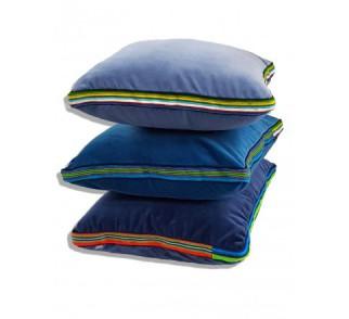 """Zestaw """"3 kolory niebieskie"""" aksamitnych poduszek folk glamour 55x45x3,5cm"""
