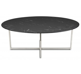 Stolik kawowy Vertigo Silver Black 120cm