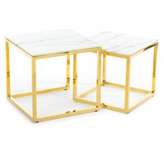 Komplet dwóch stolików Salama Gold Light
