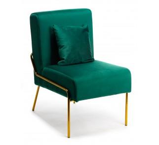 Fotel Nammi Gold Dark Green