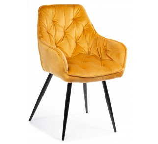 Krzesło pikowane Hana black Orange