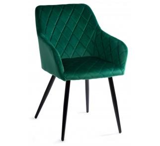 Krzesło tapicerowe Rico Black Dark Green