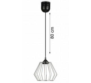 Lampa wisząca WarsawLoft 13 cm srebrna