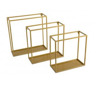 Półka wisząca ścienna metal złota 35 cm