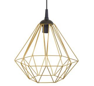 Lampa geometryczna Diamond złota 25 cm