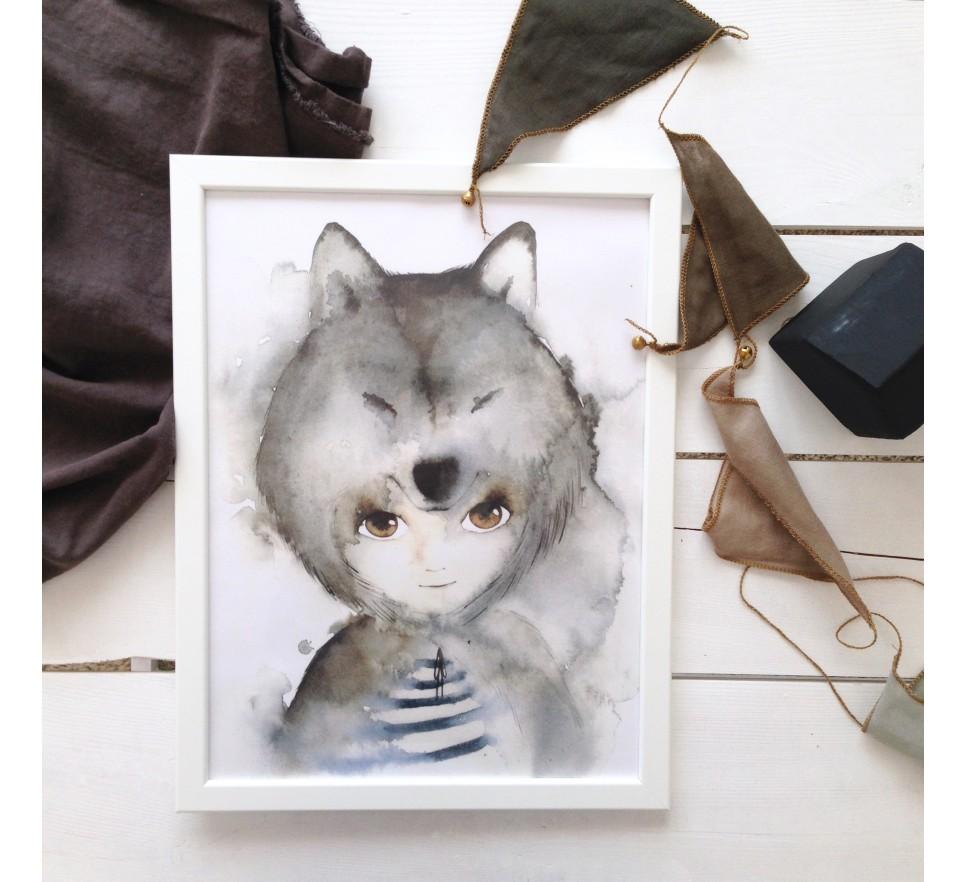 Plakat Wilk - To The Moon