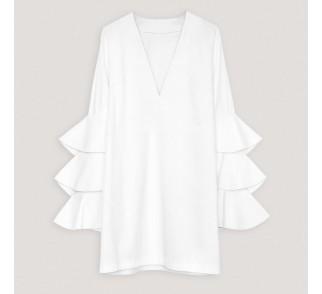Sukienka z falbaniastymi rękawami