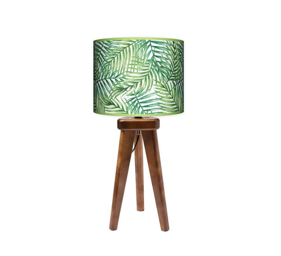 Lampa stołowa trójnóg mały - Palma_orzech