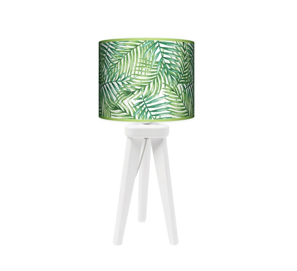 Lampa stołowa trójnóg mały - Palma_biały
