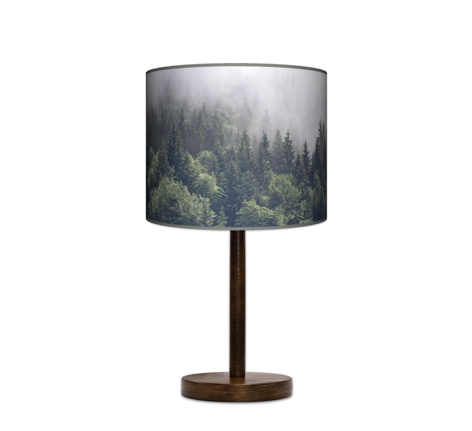 Lampa stołowa duża - Mgła_orzech