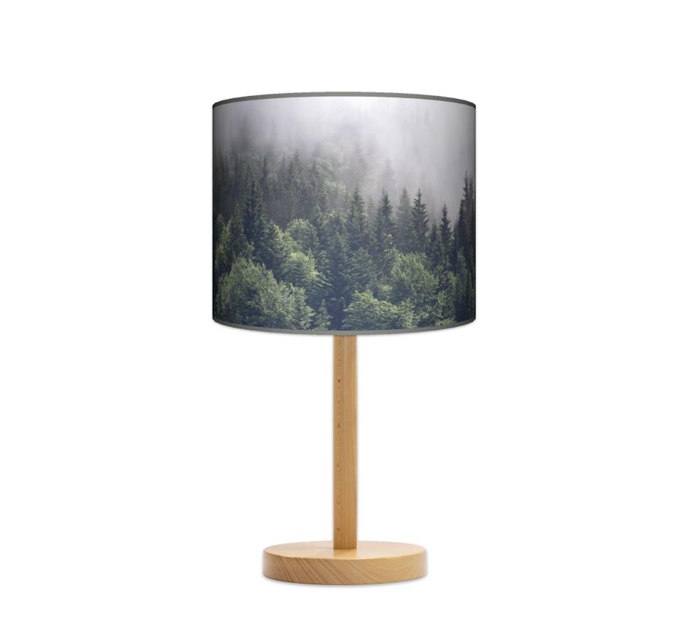 Lampa stołowa duża - Mgła_buk