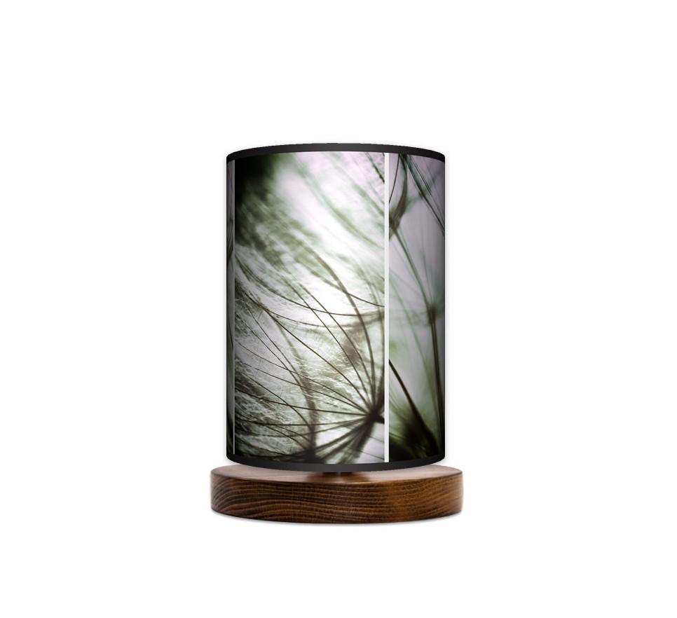 Lampa stojąca nocna mała - Tryptyk_orzech