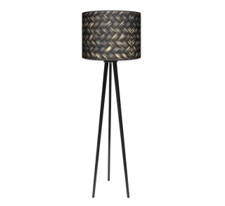 Lampa podłogowa trójnóg duży - Plecionka_czarny