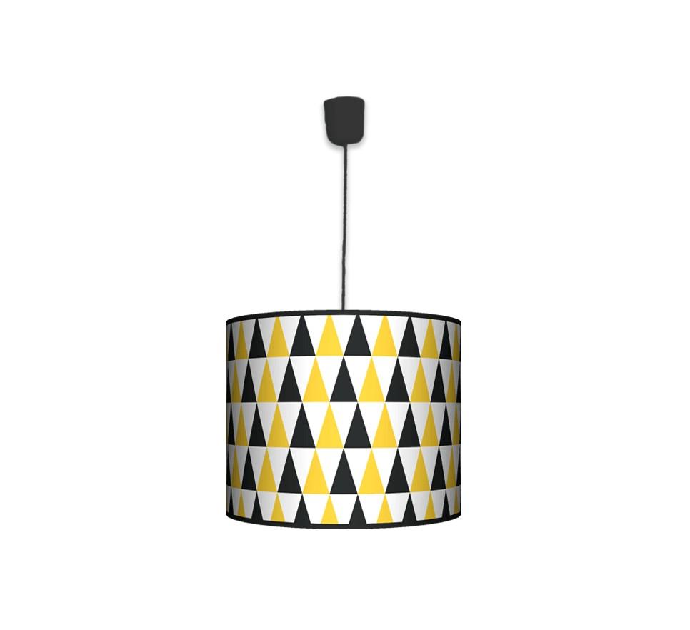 Lampa wisząca duża - Black & Yellow