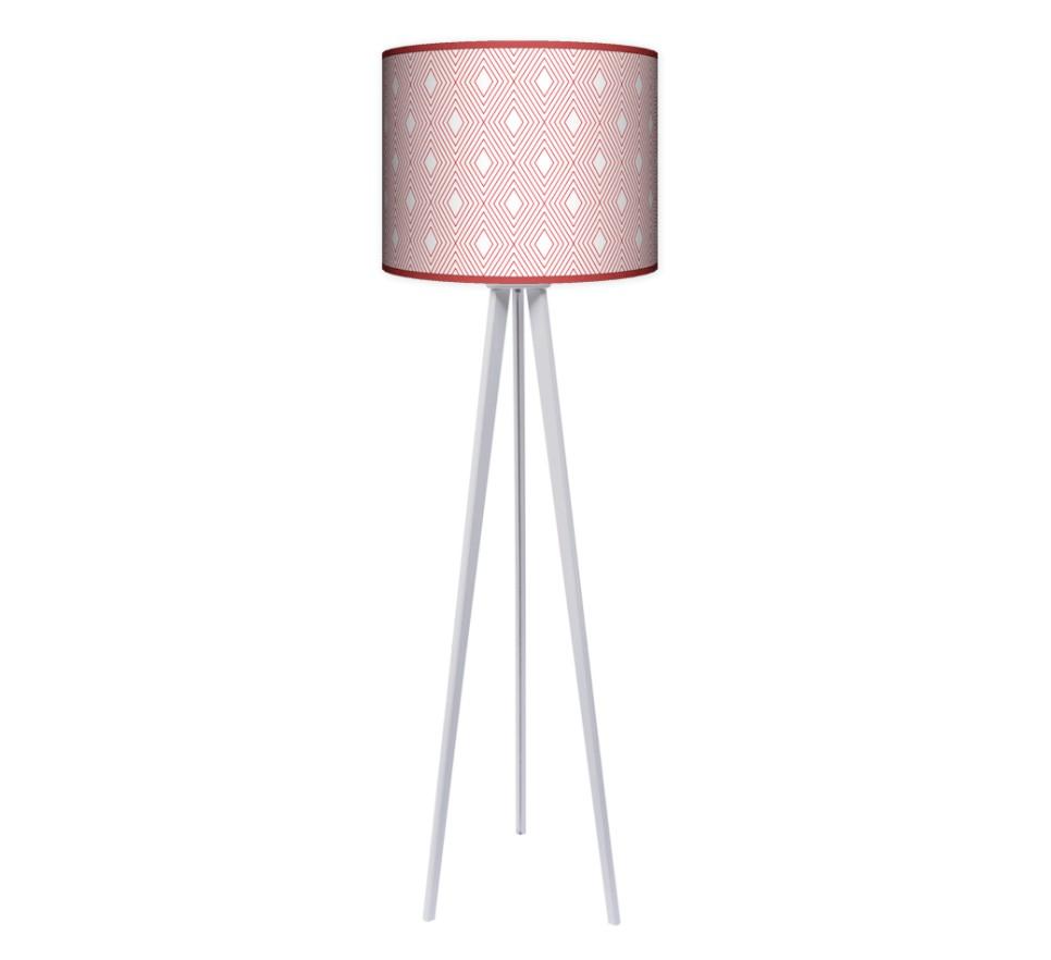 Lampa podłogowa trójnóg duży - Romby